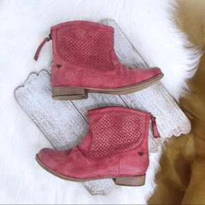 ROXY Red Booties 8